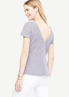Petal V-Back Peplum Top
