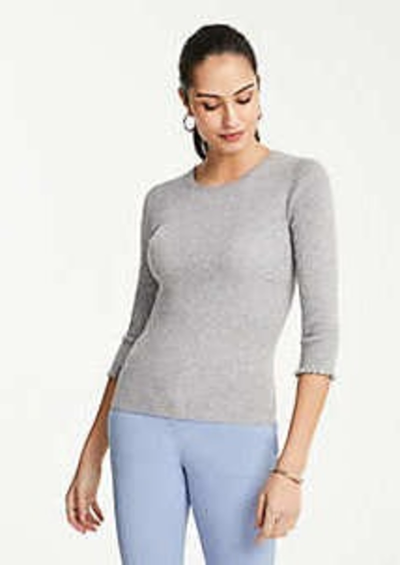 Ann Taylor Petite 3/4 Sleeve Perfect Pullover