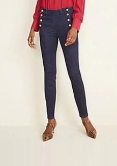 Ann Taylor Petite Admiral Performance Stretch Skinny Jeans in Classic Rinse Wash