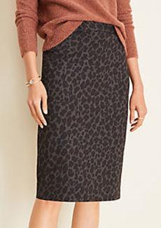 Ann Taylor Petite Cheetah Print Pencil Skirt