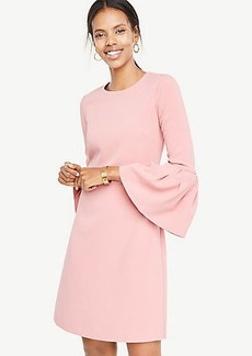 Petite Bell Sleeve Flare Dress