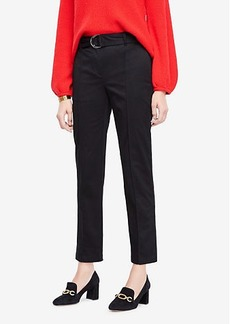 Ann Taylor Petite Belted Cotton Sateen Chinos
