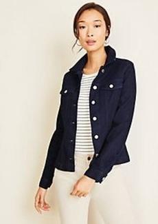 Ann Taylor Petite Belted Denim Jacket
