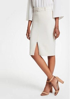 Ann Taylor Petite Belted Pencil Skirt