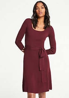 Ann Taylor Petite Belted Sweater Dress