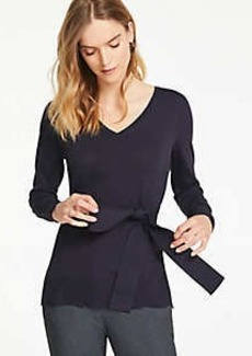 Ann Taylor Petite Belted Tunic Sweater