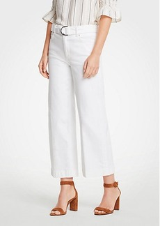Ann Taylor Petite Belted Wide Leg Jeans