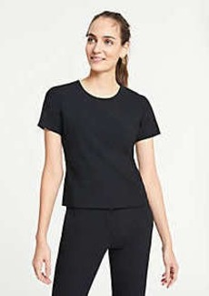 Ann Taylor Petite Bi-Stretch Short Sleeve Top
