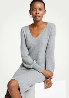 Ann Taylor Petite Blouson Sleeve Sweater Dress