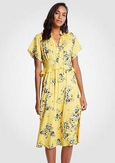 Ann Taylor Petite Boho Floral Midi Dress