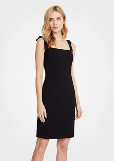 Ann Taylor Petite Bow Strap Sheath Dress