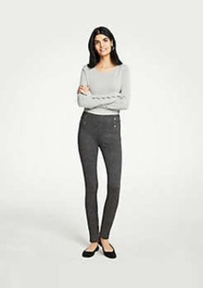 Ann Taylor Petite Button Herringbone Leggings