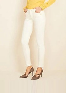 Ann Taylor Petite Button Sculpting Pocket Frayed Skinny Jeans