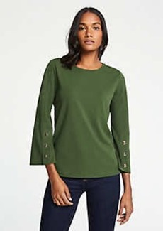 Ann Taylor Petite Button Flare Sleeve Top