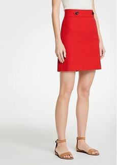 Ann Taylor Petite Button Tab A-Line Skirt