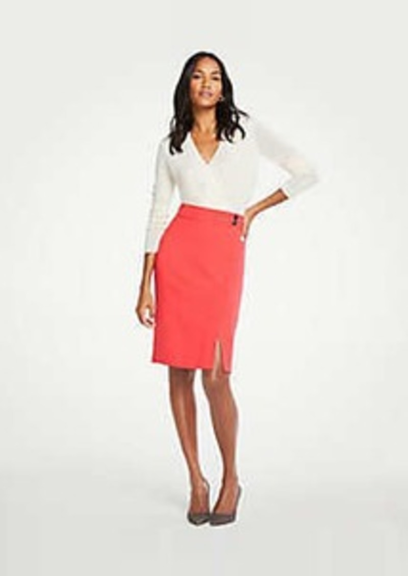 Ann Taylor Petite Button Waist Pencil Skirt