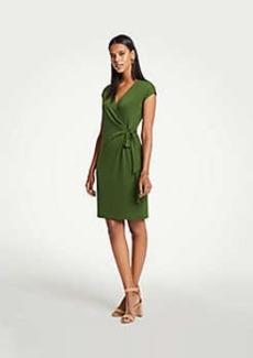 Ann Taylor Petite Cap Sleeve Wrap Dress