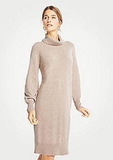 Ann Taylor Petite Cashmere Turtleneck Dress