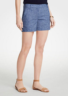 Ann Taylor Petite Chambray City Shorts