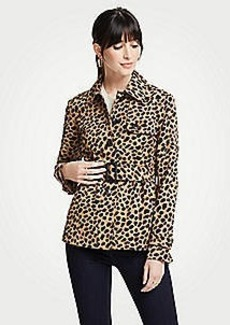 Ann Taylor Petite Cheetah Dot Short Trench