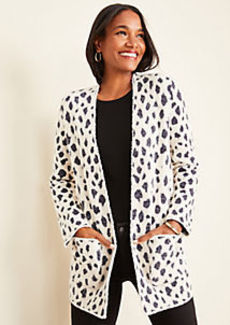 Ann Taylor Petite Cheetah Print Open Cardigan
