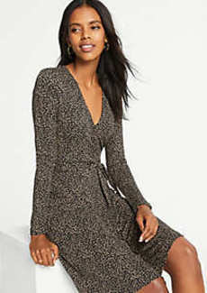 Ann Taylor Petite Cheetah Print Wrap Dress