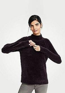 Ann Taylor Petite Chenille Mock Neck Sweater