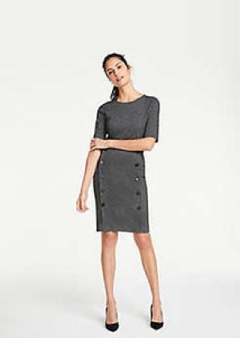 Ann Taylor Petite Chevron Button Knit Pencil Skirt