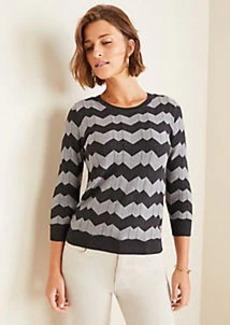 Ann Taylor Petite Chevron Sweater
