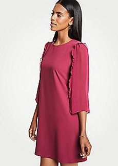 Ann Taylor Petite Chiffon Sleeve Shift Dress