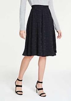 Ann Taylor Petite Clip Dot Chiffon Full Skirt