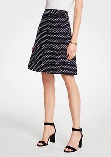 Ann Taylor Petite Clip Dot Flare Skirt