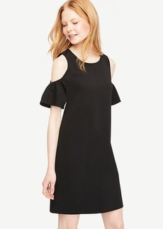 Petite Cold Shoulder Flutter Sleeve Dress