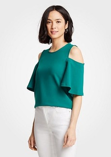 Ann Taylor Petite Cold Shoulder Top