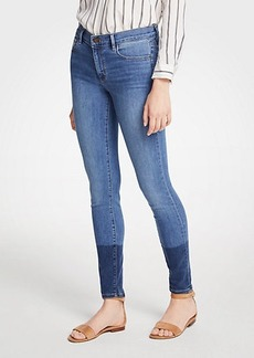Ann Taylor Petite Colorblock All Day Skinny Jeans