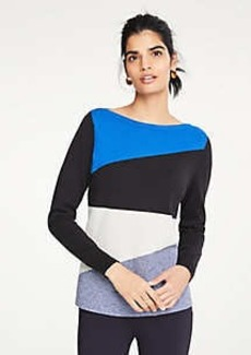 Ann Taylor Petite Colorblock Boatneck Sweater