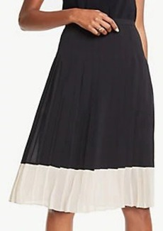 Ann Taylor Petite Colorblock Pleated Skirt