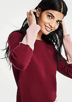 Ann Taylor Petite Colorblock Sweater