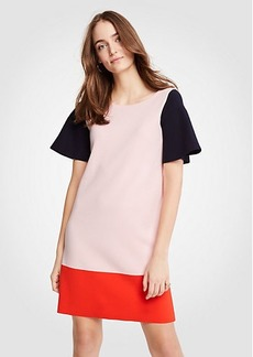 Ann Taylor Petite Colorblock Sweater Shift Dress