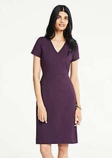 Ann Taylor Petite Colorblock V-Neck Ponte Knit Sheath Dress