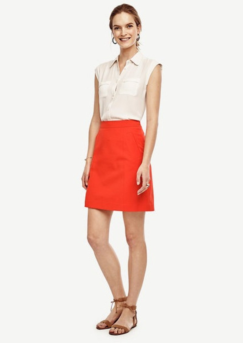 Ann Taylor Petite Compact Twill Skirt