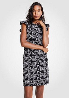 Ann Taylor Petite Contrast Lace Shift Dress