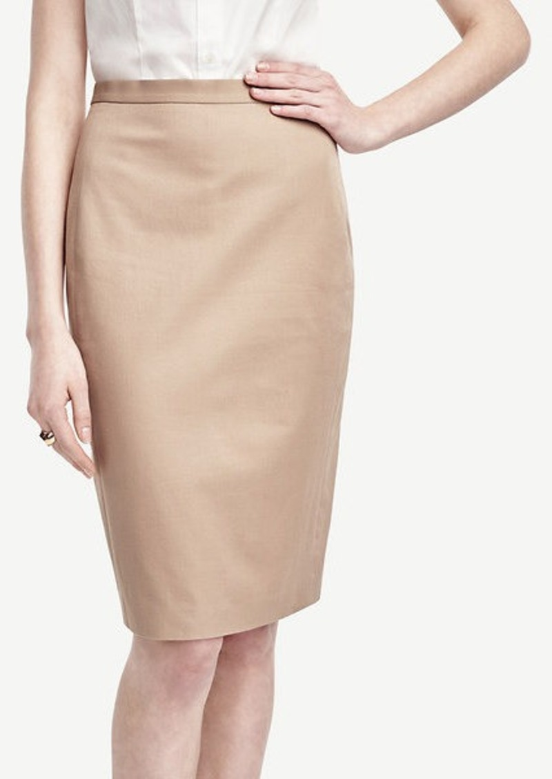 Ann Taylor Petite Cotton Blend Pencil Skirt