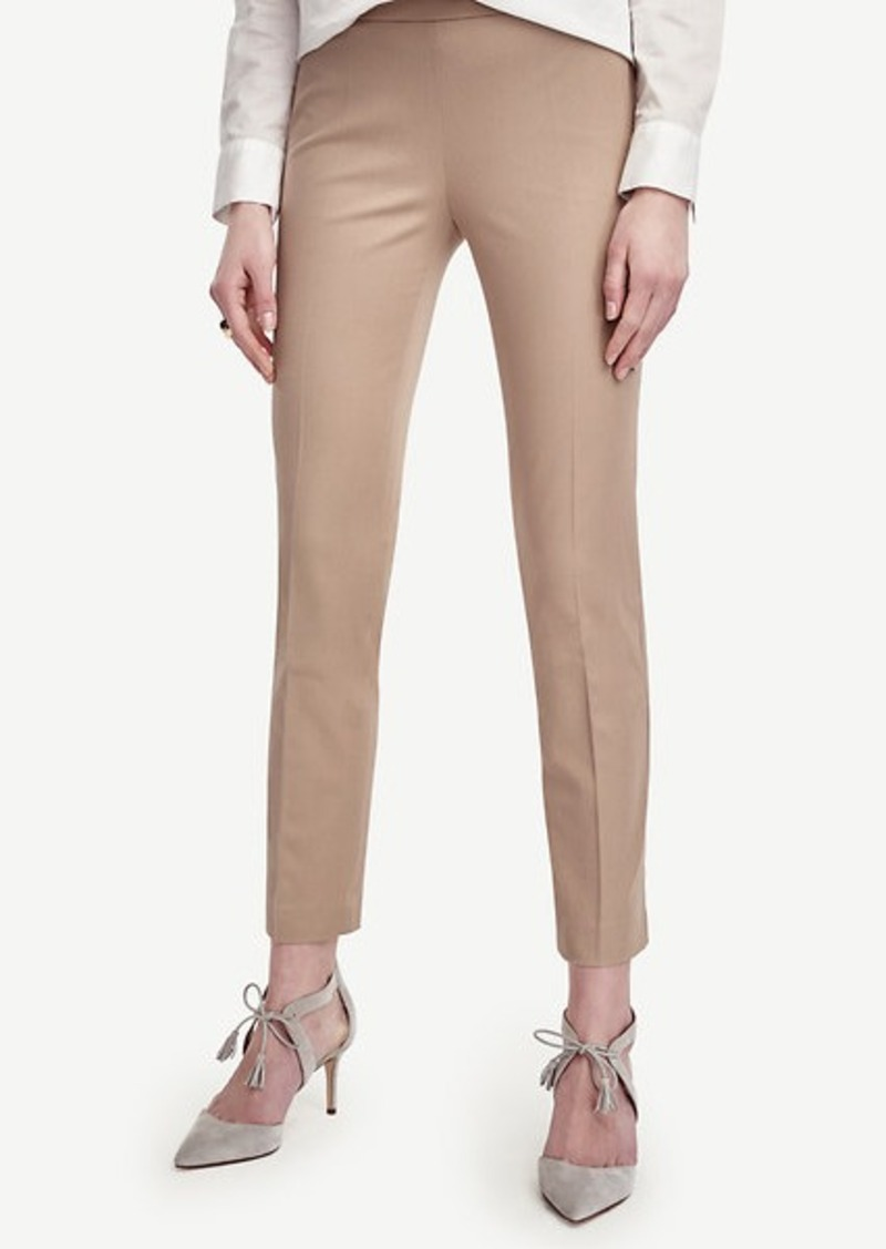 Ann Taylor Petite Cotton Blend Slim Ankle Pants