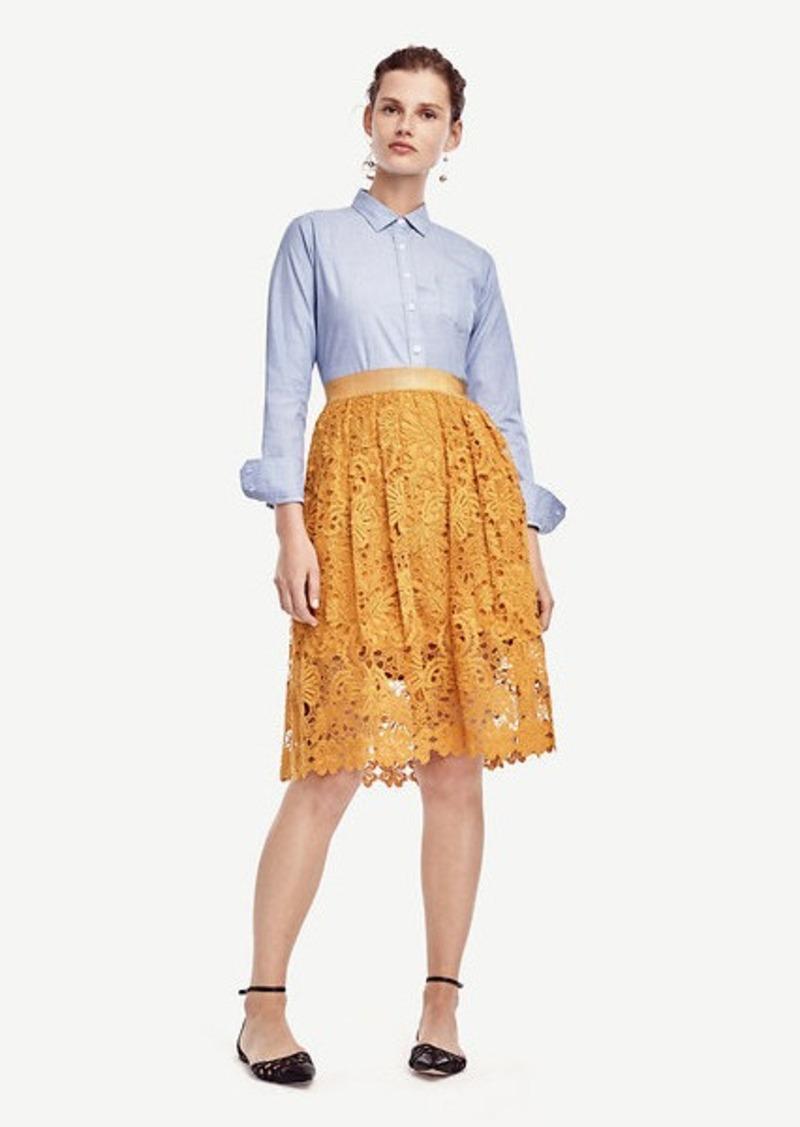 Ann Taylor Petite Cotton Button Down Shirt