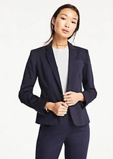 Ann Taylor Petite Cotton Sateen One Button Perfect Blazer