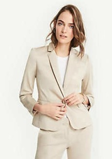 Ann Taylor Petite Cotton Sateen One Button Perfect Blazer