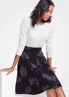 Ann Taylor Petite Crocus Floral Flare Skirt