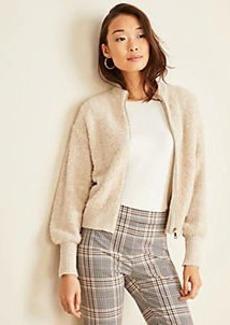 Ann Taylor Petite Cropped Zip Jacket