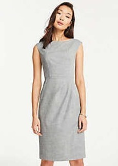 Ann Taylor Petite Crosshatch Boatneck Sheath Dress